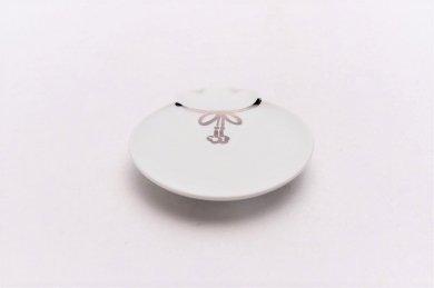 梶謙製磁 白マット(プラチナ) 宝袋小皿