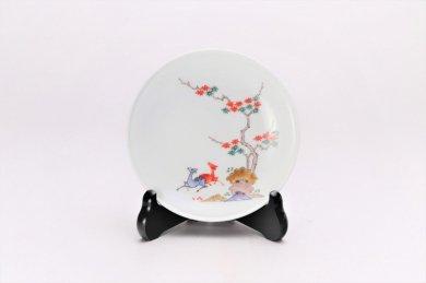 柿右衛門窯 額皿(4.5寸) 鹿紅葉文