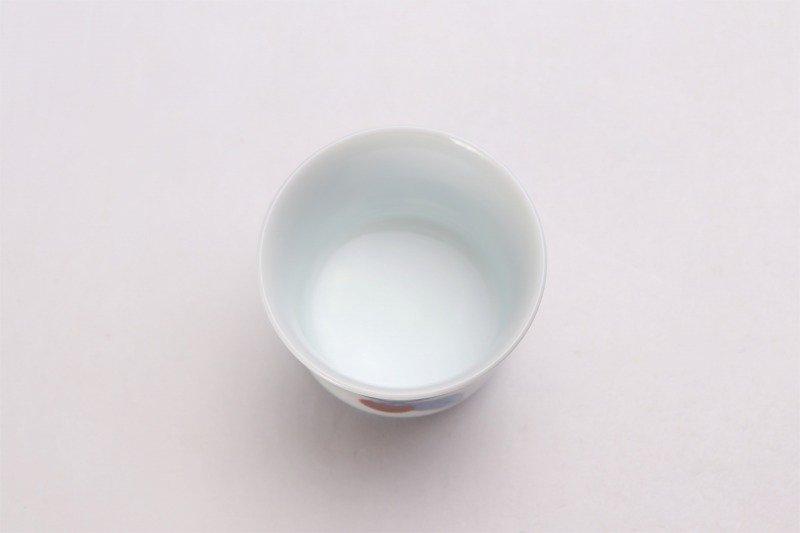 柿右衛門窯 ぐい呑(大) 染錦柿文 画像サブ3