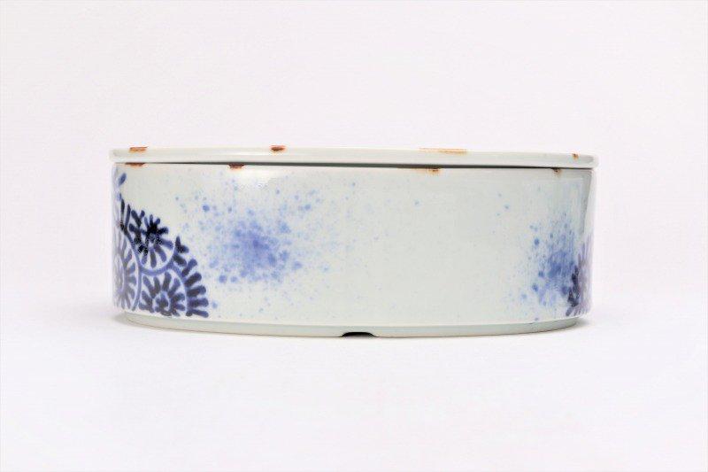 福泉窯 染付蛸唐草 繭型蓋物 画像サブ2
