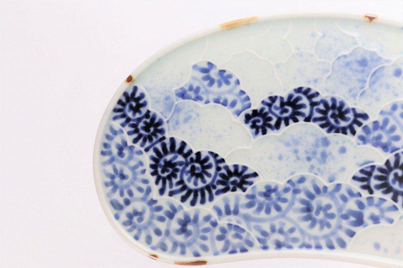 福泉窯 染付蛸唐草 繭型蓋物 画像サブ8