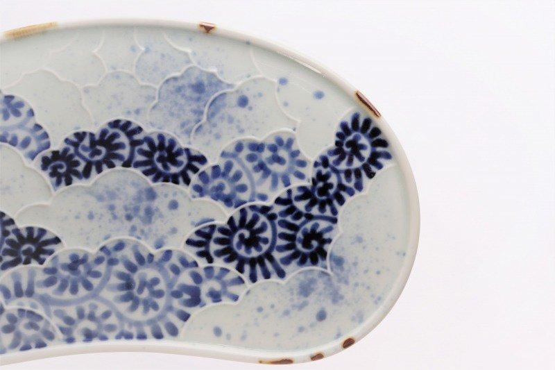 福泉窯 染付蛸唐草 繭型蓋物 画像サブ9