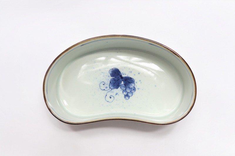 福泉窯 染付ぶどう 繭型蓋物 画像サブ10
