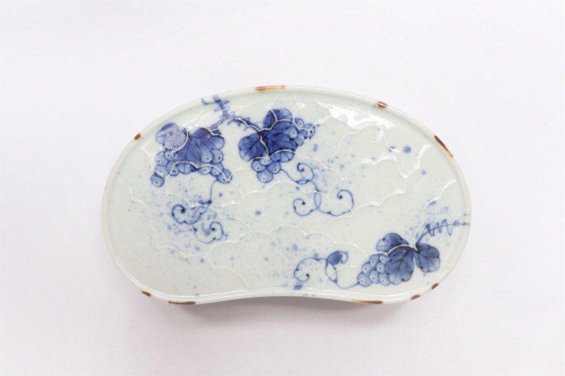 福泉窯 染付ぶどう 繭型蓋物 画像サブ6