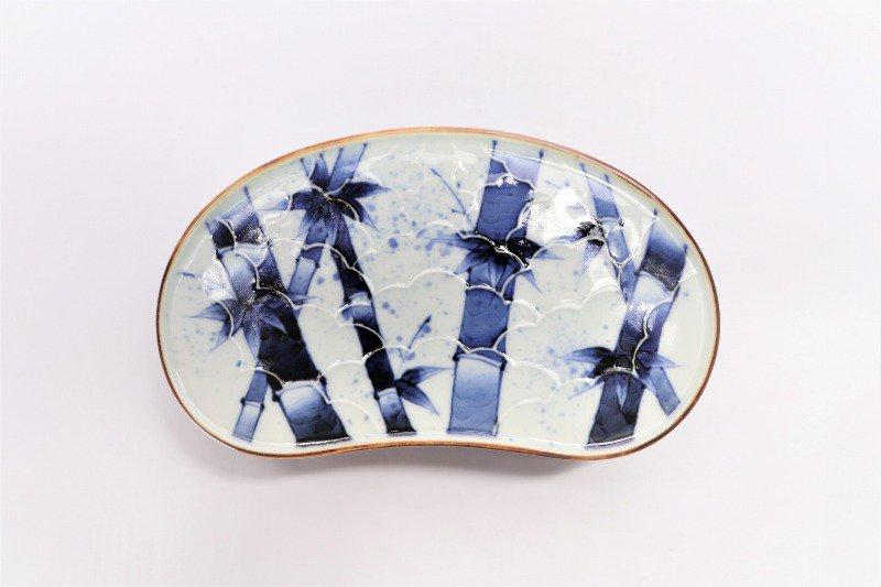 福泉窯×MARUKEIオリジナル 染付竹濃 繭型蓋物 画像サブ4