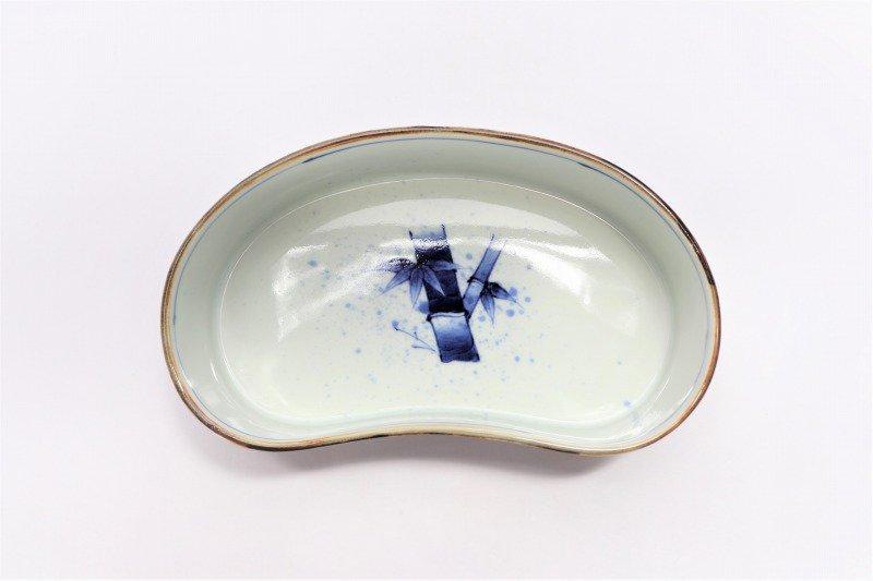 福泉窯×MARUKEIオリジナル 染付竹濃 繭型蓋物 画像サブ6
