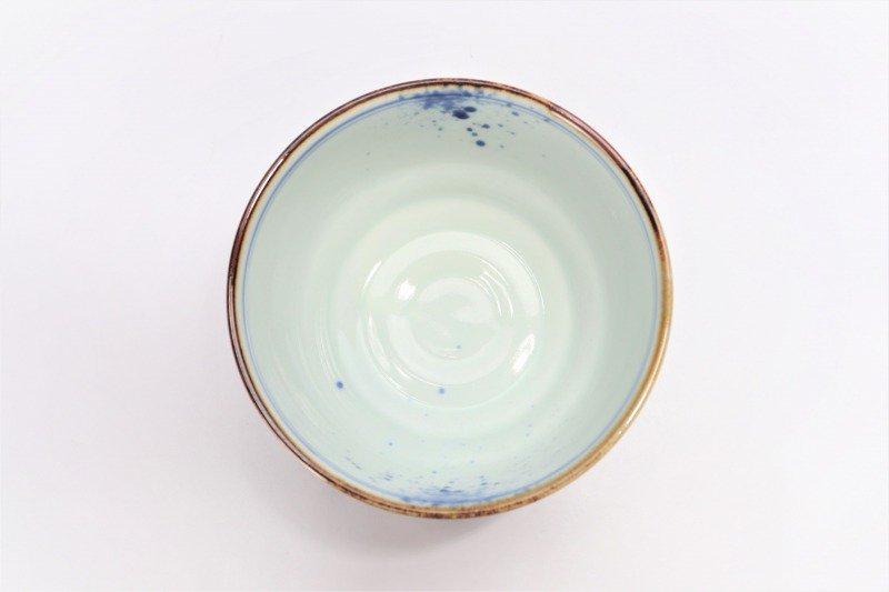 福泉窯×MARUKEIオリジナル 染付濃松竹梅 高台ロクロ目麺鉢 画像サブ10