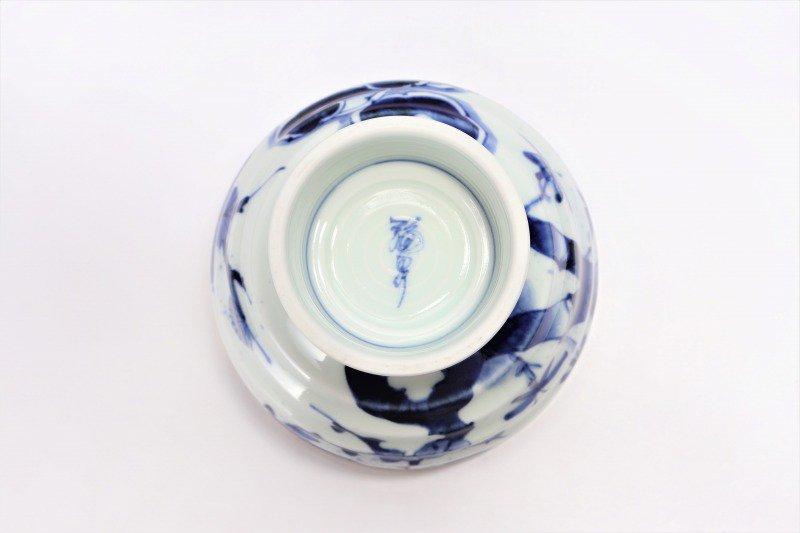 福泉窯×MARUKEIオリジナル 染付濃松竹梅 高台ロクロ目麺鉢 画像サブ11