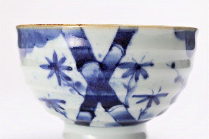福泉窯×MARUKEIオリジナル 染付濃松竹梅 高台ロクロ目麺鉢 画像サブ8
