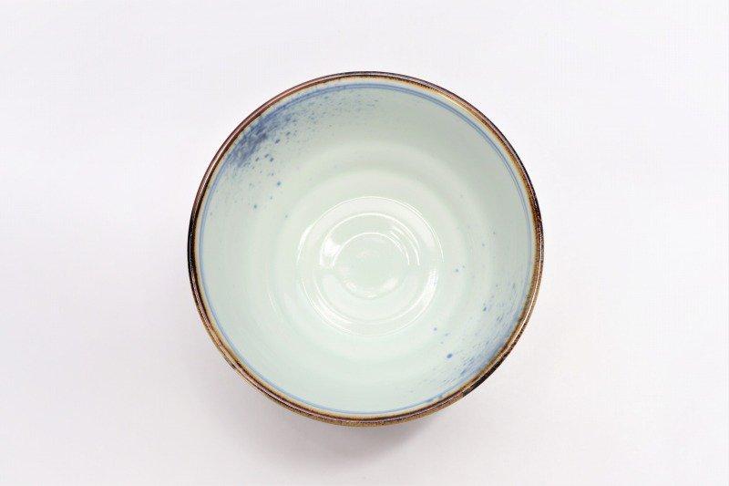 福泉窯×MARUKEIオリジナル 染付雲濃丸囲紋 高台ロクロ目麺鉢 画像サブ8
