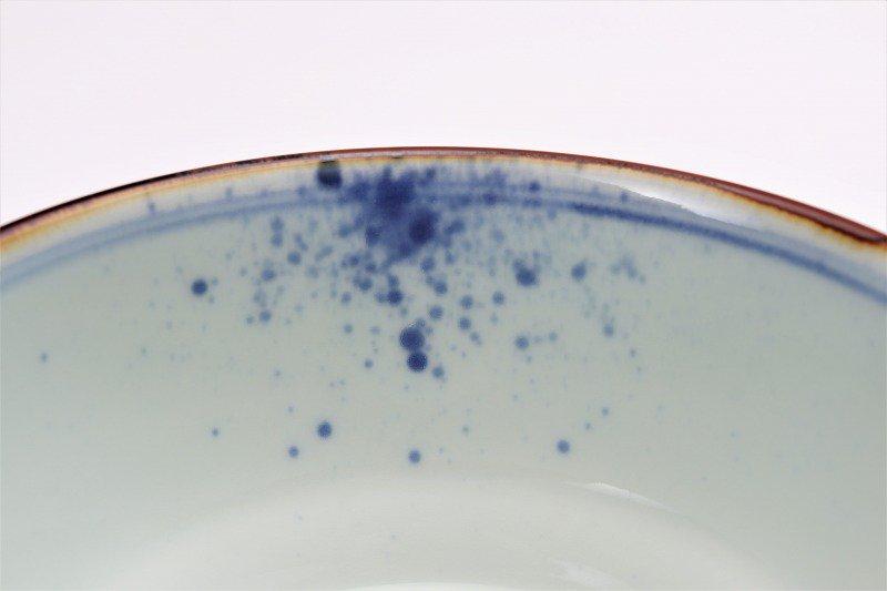 福泉窯×MARUKEIオリジナル 染付地紋丸紋 高台ロクロ目麺鉢 在庫8個 画像サブ8
