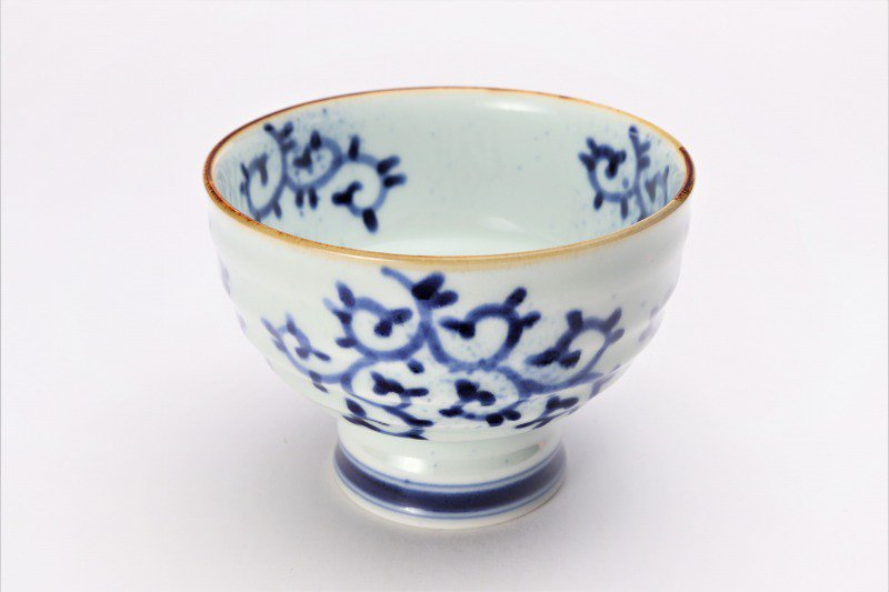 福泉窯×MARUKEIオリジナル 染付蛸唐草 高台ロクロ目麺鉢 在庫7個 画像メイン