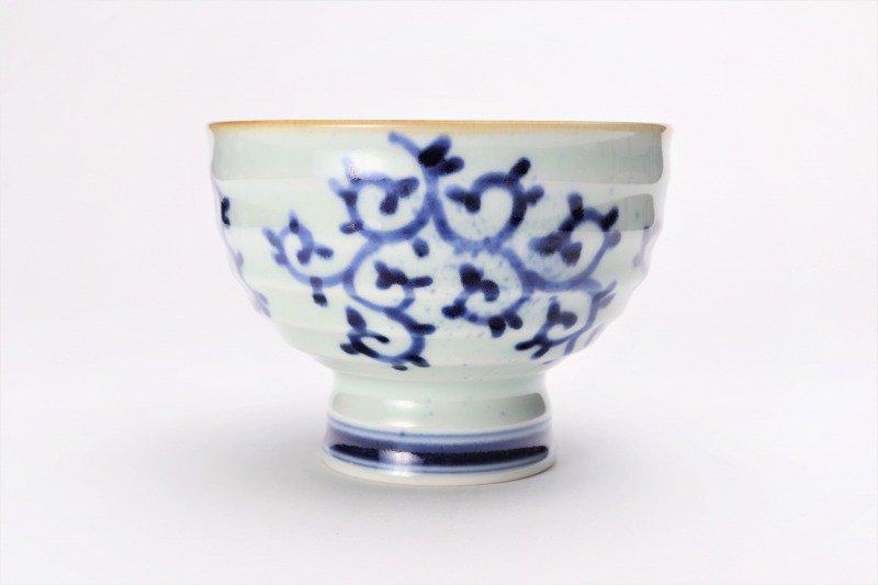 福泉窯×MARUKEIオリジナル 染付蛸唐草 高台ロクロ目麺鉢 在庫7個 画像サブ1