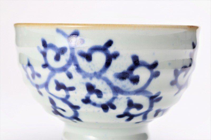福泉窯×MARUKEIオリジナル 染付蛸唐草 高台ロクロ目麺鉢 在庫7個 画像サブ2
