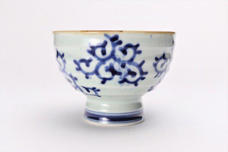 福泉窯×MARUKEIオリジナル 染付蛸唐草 高台ロクロ目麺鉢 在庫7個 画像サブ3