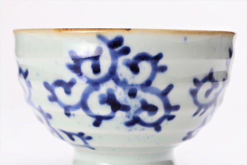 福泉窯×MARUKEIオリジナル 染付蛸唐草 高台ロクロ目麺鉢 在庫7個 画像サブ4