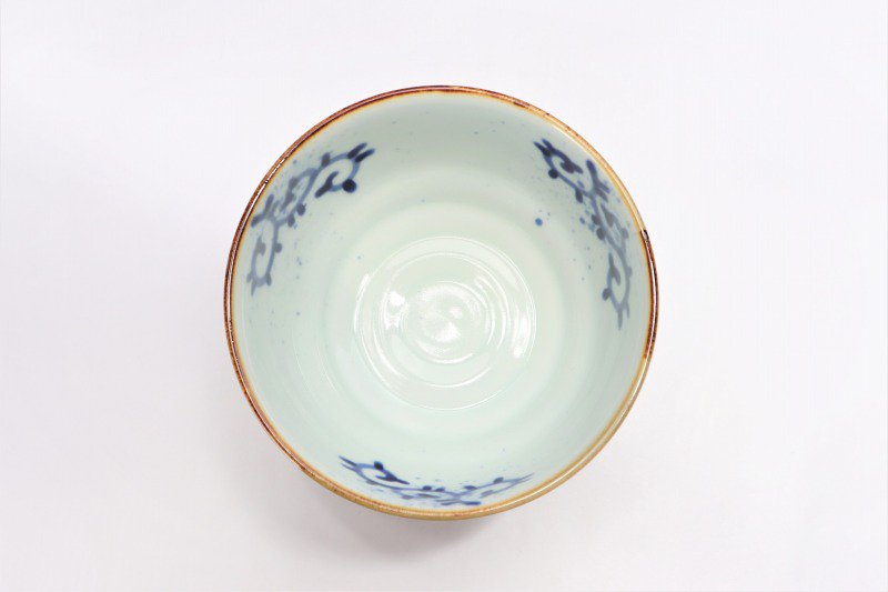 福泉窯×MARUKEIオリジナル 染付蛸唐草 高台ロクロ目麺鉢 在庫7個 画像サブ5