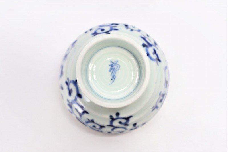 福泉窯×MARUKEIオリジナル 染付蛸唐草 高台ロクロ目麺鉢 在庫7個 画像サブ7