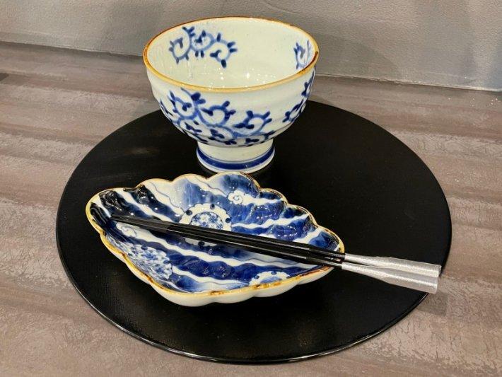 福泉窯×MARUKEIオリジナル 染付蛸唐草 高台ロクロ目麺鉢 在庫7個 画像サブ8