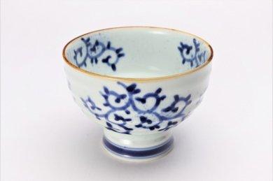 福泉窯×MARUKEIオリジナル 染付蛸唐草 高台ロクロ目麺鉢 在庫7個