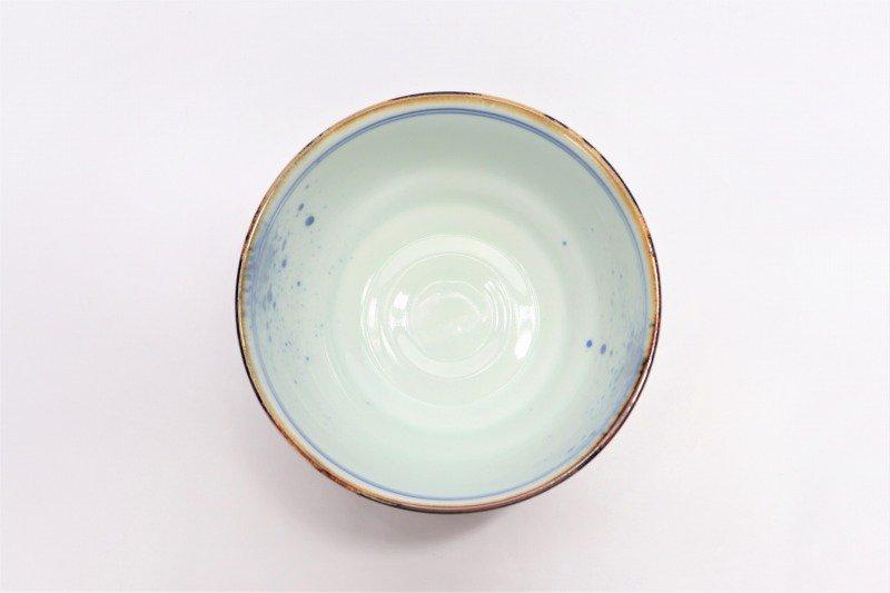 福泉窯×MARUKEIオリジナル 染付しだれ桜 高台ロクロ目麺鉢 画像サブ5