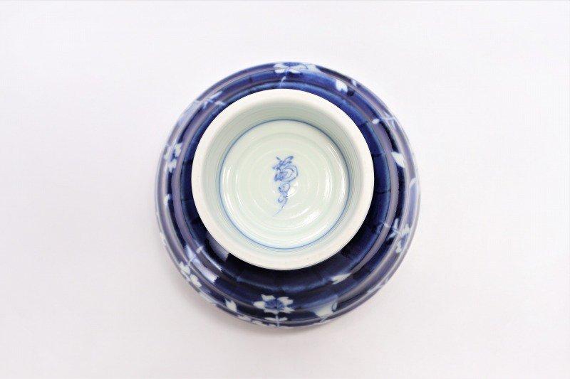 福泉窯×MARUKEIオリジナル 染付しだれ桜 高台ロクロ目麺鉢 画像サブ7