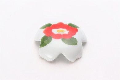 誕生花シリーズ 赤椿 桜型排水口カバー (1月誕生花)