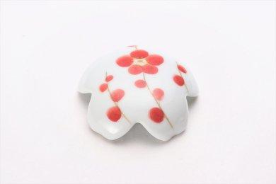 誕生花シリーズ 紅白梅 桜型排水口カバー (2月誕生花)