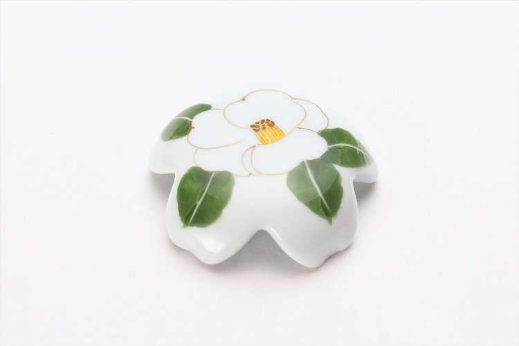誕生花シリーズ 白サザンカ 桜型排水口カバー (12月誕生花) 画像メイン