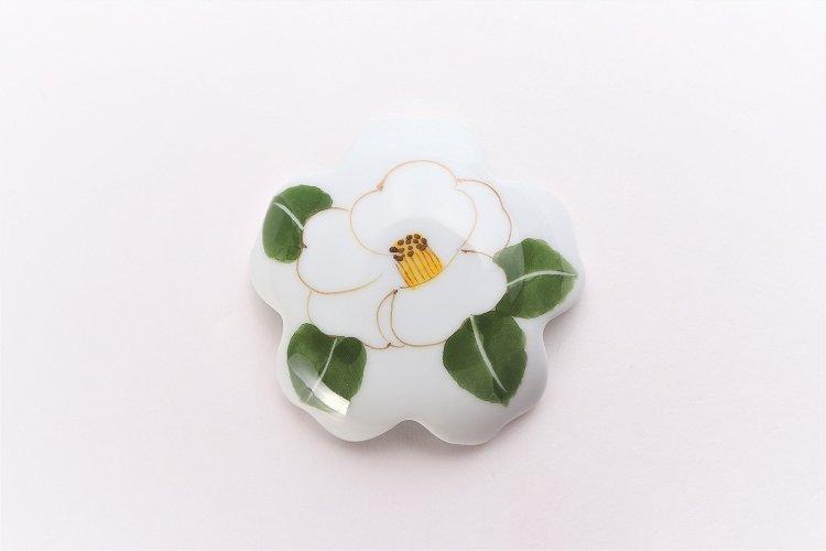 誕生花シリーズ 白サザンカ 桜型排水口カバー (12月誕生花) 画像サブ2