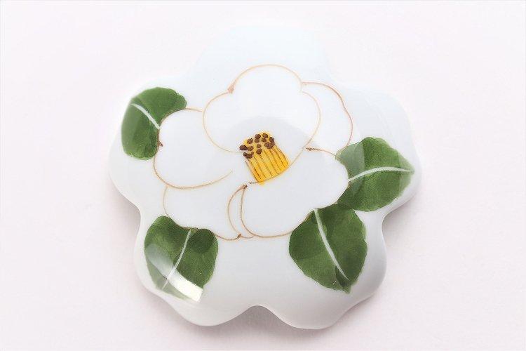 誕生花シリーズ 白サザンカ 桜型排水口カバー (12月誕生花) 画像サブ3