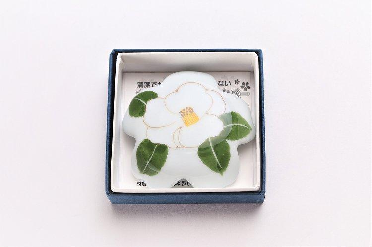 誕生花シリーズ 白サザンカ 桜型排水口カバー (12月誕生花) 画像サブ4