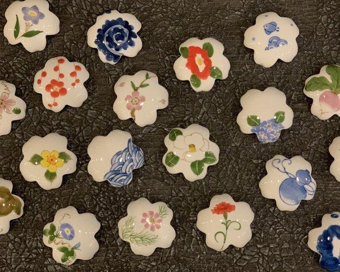 誕生花シリーズ 白サザンカ 桜型排水口カバー (12月誕生花) 画像サブ7