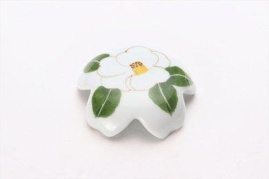 誕生花シリーズ 白サザンカ 桜型排水口カバー (12月誕生花)