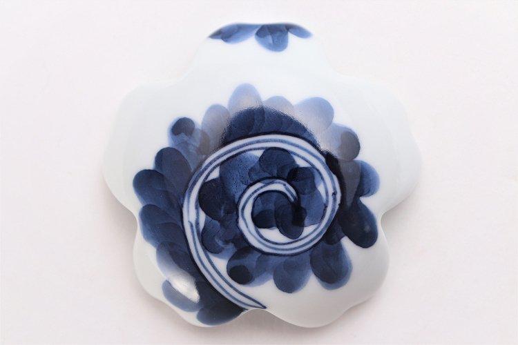 楽々シリーズ 染付蛸唐草(大) 桜型排水口カバー 画像サブ3