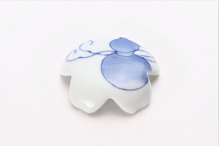 楽々シリーズ 染付瓢箪 桜型排水口カバー 画像メイン