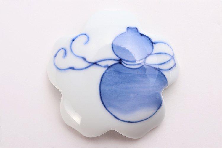 楽々シリーズ 染付瓢箪 桜型排水口カバー 画像サブ3