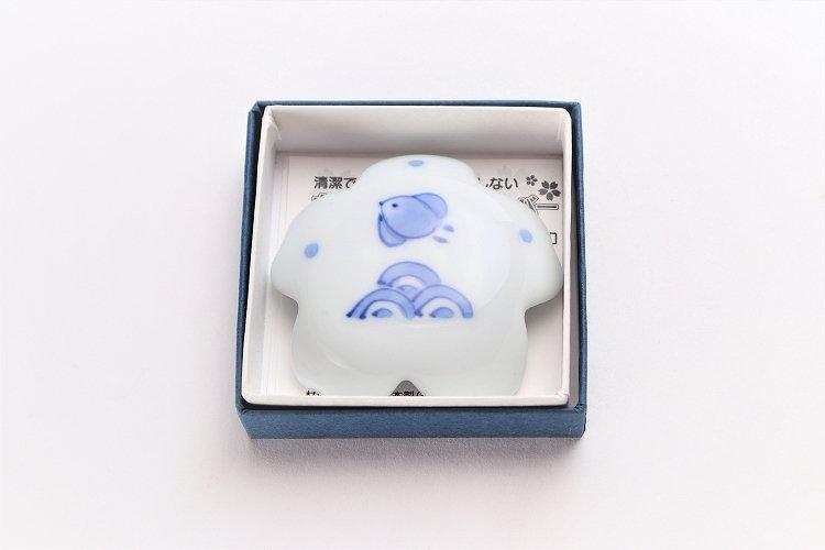 楽々シリーズ 染付波千鳥 桜型排水口カバー 画像サブ4