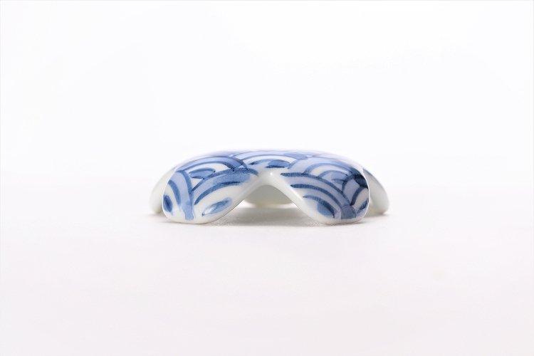 楽々シリーズ 染付青海波 桜型排水口カバー 画像サブ1