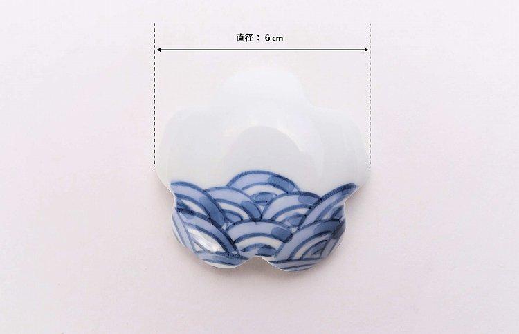楽々シリーズ 染付青海波 桜型排水口カバー 画像サブ6
