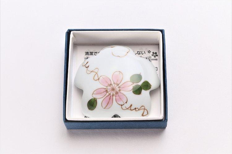 楽々シリーズ ピンク鉄線花 桜型排水口カバー 画像サブ4