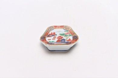 ☆幸楽窯 錦色絵山水箸置
