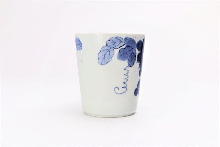 ☆皓洋窯 染付吹墨ぶどう(赤) 立マグカップ 画像サブ2