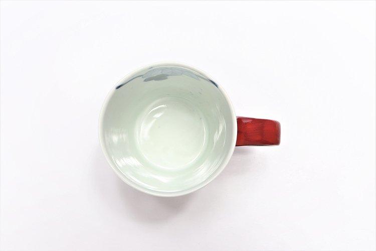 ☆皓洋窯 染付吹墨ぶどう(赤) 立マグカップ 画像サブ6