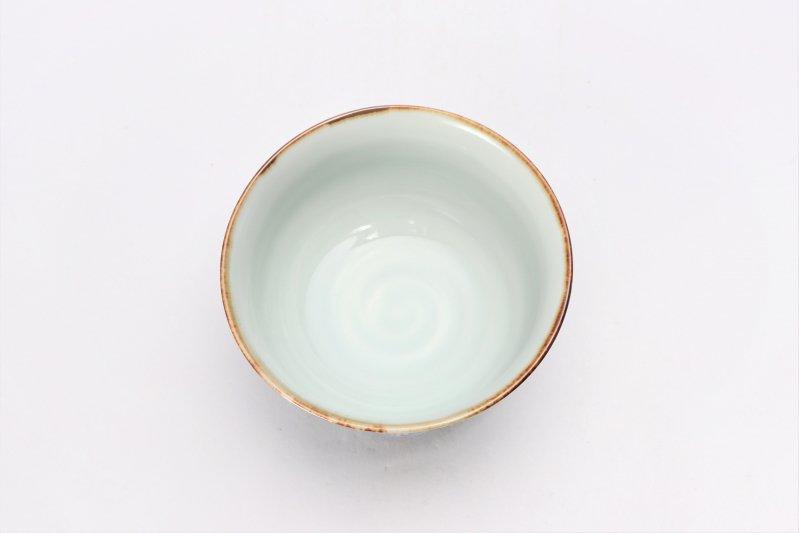 福泉窯 染付地紋十草 面取茶付(小) 画像サブ3