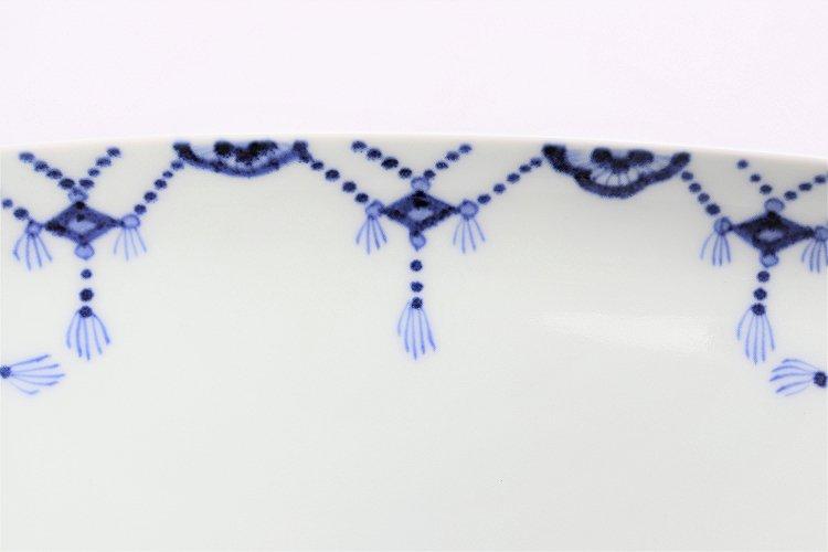 【オリジナル】染付瓔珞スクエア皿(大) 画像サブ2