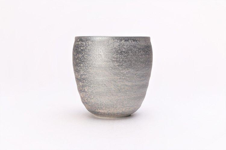 陶悦窯 晶雲母銀 ロックカップ 画像サブ1