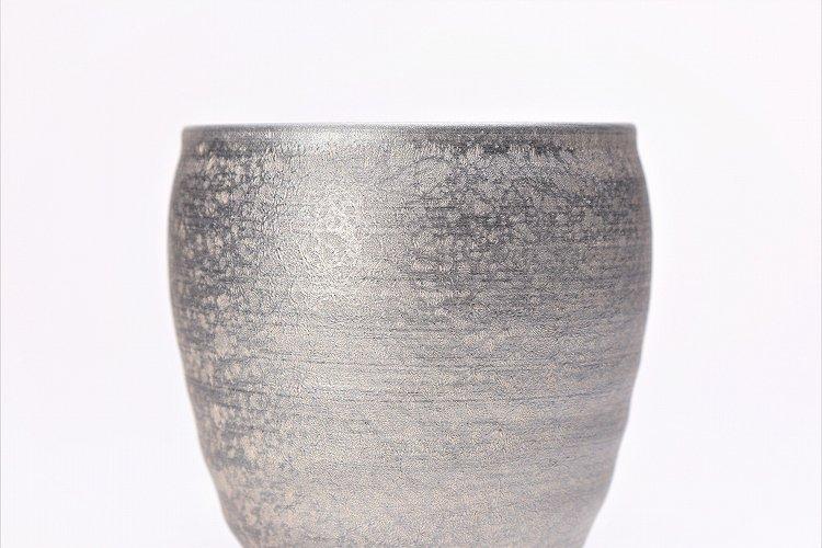 陶悦窯 晶雲母銀 ロックカップ 画像サブ2