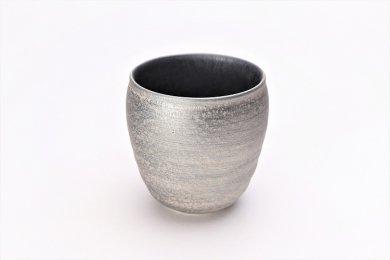 陶悦窯 晶雲母銀 ロックカップ