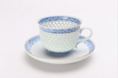 丹心窯 水晶青海波コーヒーC/S(大)